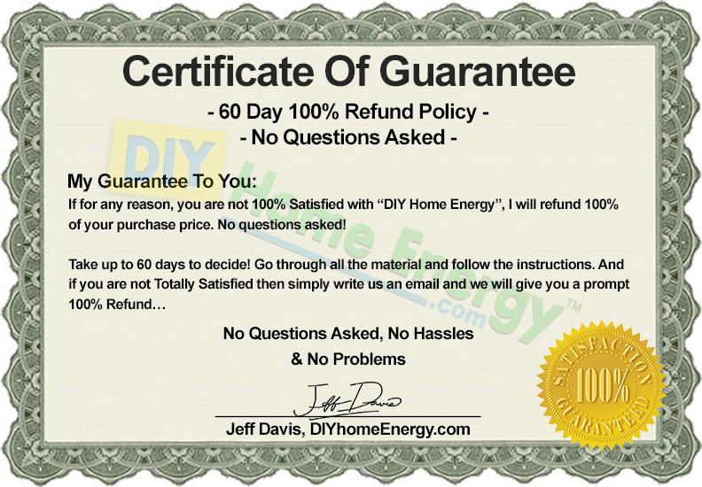 60 Day, 100% Satisfaction, Money Back Guarantee